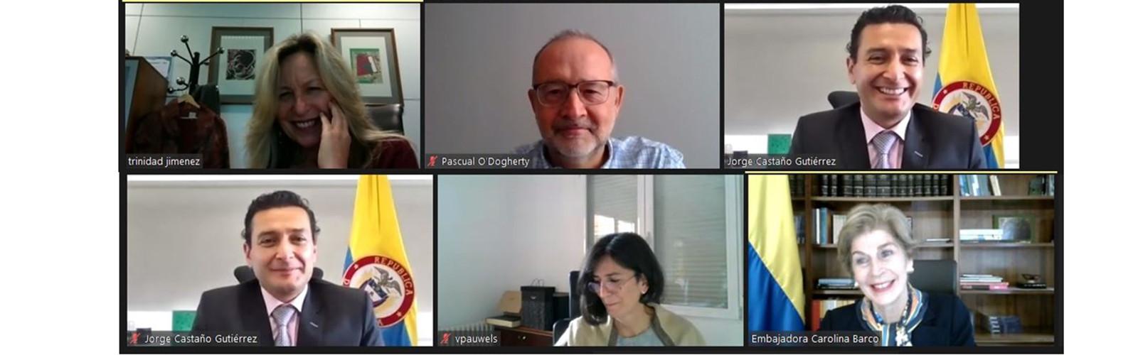 """Videoconferencia """"Ingreso de Colombia en la OCDE, implementación de estándares financieros"""""""