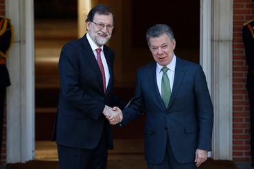 Juan Manuel Santos visita España