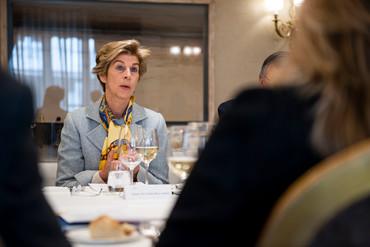 Almuerzo con la nueva embajadora de Colombia en España